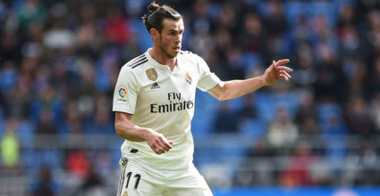 MADRID, SPAIN - APRIL 6: Gareth Bale of Real Madrid CF in action during La Liga matches between CF and Eibar of Real Madrid at Estadio Santiago Bernabeu on April 6, 2019 in Madrid, Spain. (Photo by Denis Doyle / Getty Images)