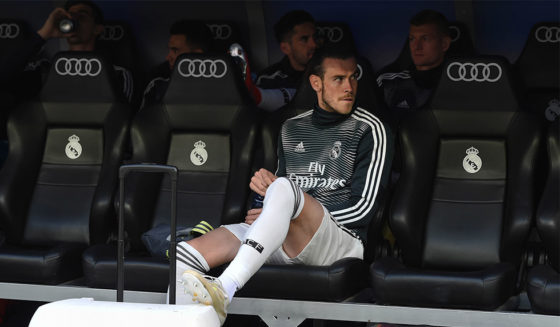 MADRID, SPAIN - MAY 19: Real Madrid Real Madrid looks at the substitute bench before the La Liga match between Real Madrid CF and Real Betis Balompie at the Santiago Bernabeu Stadium on May 19, 2019 in Madrid, Spain. (Photo by Denis Doyle / Getty Images)
