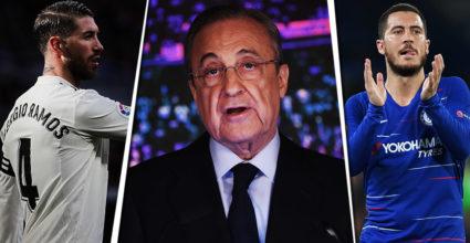 Florentino Perez Sergio Ramos Eden Hazard