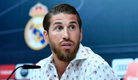 Real Madrid's Real Madrid Sergio Ramos held a press conference on Real Madrid's training in Valdebebas, Madrid, on May 30, 2019. (Photo credit OSCAR DEL POZO / AFP / Getti Images)