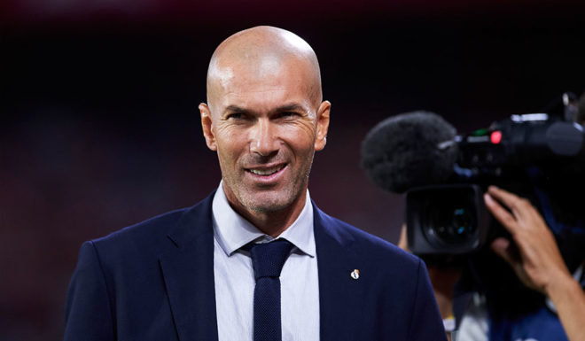 "SEVILLE, SPAIN - SEPTEMBER 22: Zinedine Zidane of Real Madrid looks on top of the La Liga match between Sevilla FC and Real Madrid at Estadio Ramon Sanchez Pizjuan on September 22, 201<div class=""e3lan e3lan-in-post1""><script async src=""//pagead2.googlesyndication.com/pagead/js/adsbygoogle.js""></script>