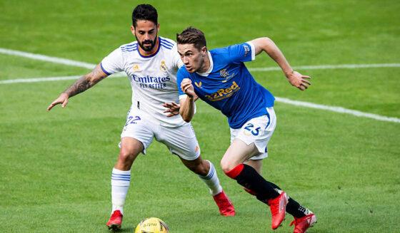 LIVE!  Glasgow Rangers 0:1 Real Madrid